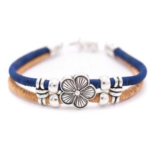 Blumen Armband (Bracelet) Blau