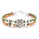 Blumen Armband (Bracelet) Grün