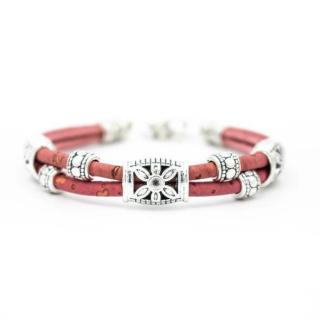 Blumen Armband (Bracelet) Blümchen - Rot
