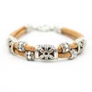 Blumen Armband (Bracelet) Blümchen - Naturell