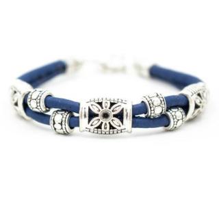 Blumen Armband (Bracelet) Blümchen - Blau