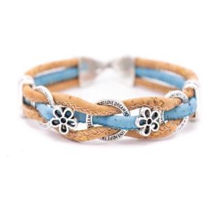 Kreis Blumen Armband (Bracelet) Hellblau