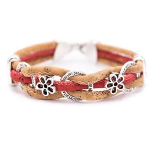 Kreis Blumen Armband (Bracelet) Rot