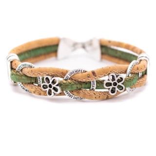 Kreis Blumen Armband (Bracelet) Grün