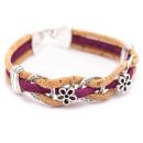 Kreis Blumen Armband (Bracelet) Magenta