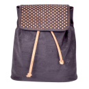 Schwarzer Rucksack mit Muster (backpack)