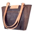 Schwarze elegante Einkaufstasche mit Muster