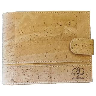 Großer Kork Geldbeutel (Wallet) Natürlich mit Naht