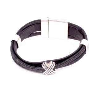 Schwarzes Armband (Bracelet) 18,5 cm