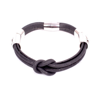 Korkarmband schwarz (Bracelet) 17,5 cm
