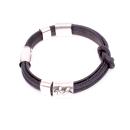 Korkarmband schwarz (Bracelet) 19,5 cm