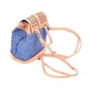 Blauer Rucksack mit Muster (backpack) Punkte