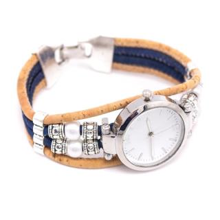 Blaue Perlen Uhr