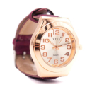Roséfarbene Uhr mit rotem Armband