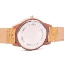 Helle Holzoptik Uhr mit natürlichem Armband