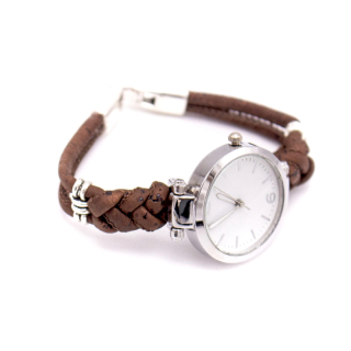 Korkuhr mit geflochtenem Armband
