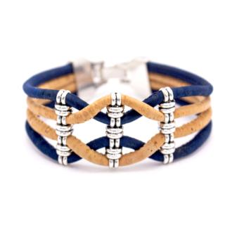 Breites Riemenarmband (Bracelet) Blau