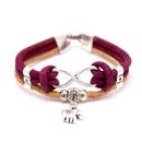 Elefanten Unendlichkeitsarmband (Infinity Bracelet) Magenta