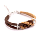 Bienen Knoten Armband (Bracelet) Braun
