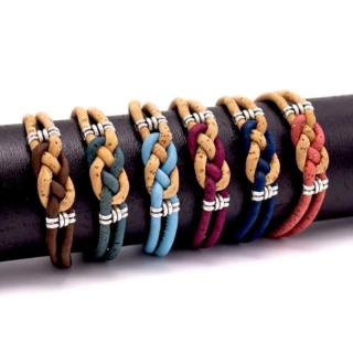 Bienen Knoten Armband (Bracelet) Hellblau
