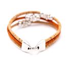 Perlen Blumen Armband (Bracelet) Orange