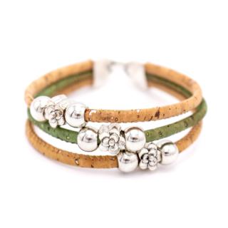 Perlen Blumen Armband (Bracelet) Grün