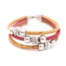 Perlen Blumen Armband (Bracelet) Rosa
