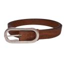Brauner Gürtel mit ovaler Schnalle (Belt)