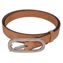 Natürlicher Gürtel mit ovaler Schnalle (Belt)  95 cm