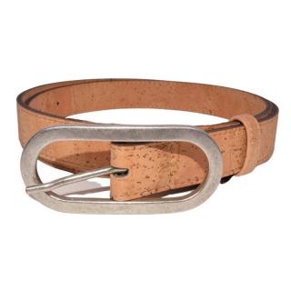 Natürlicher Gürtel mit ovaler Schnalle (Belt)  105 cm
