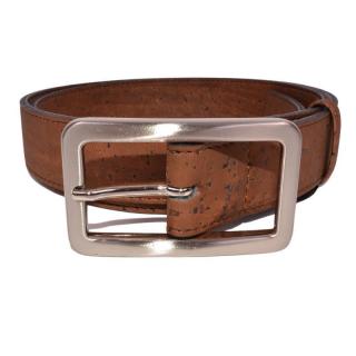 Brauner Gürtel mit rechteckiger Schnalle (Belt)  85 cm