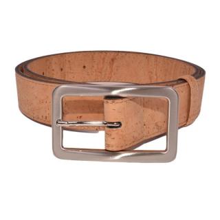 Natürlicher Gürtel mit rechteckiger Schnalle (Belt)  85 cm