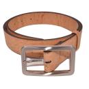 Natürlicher Gürtel mit rechteckiger Schnalle (Belt)  105 cm