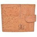 Nachhaltiger Kork Geldbeutel (Wallet) Dunkelbraun mit Naht