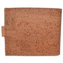 Großer Kork Geldbeutel (Wallet) Hellbraun ohne Naht