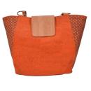 Orangene elegante Einkaufstasche mit Muster