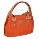 Handtasche mit Lochmuster (orange/natürlich)