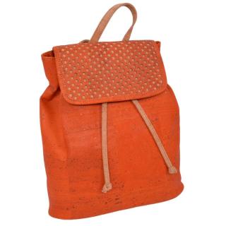 Orangfarbener Rucksack mit Muster (backpack)