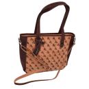 Natürlich braune Handtasche mit Muster