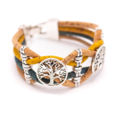 Doppeltes Lebensbaum Armband (Bracelet) hell-dunkelblau