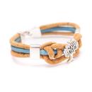 Knoten Lebensbaum Armband (Bracelet) dunkelblau