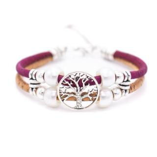 Perlen Lebensbaum Armband (Bracelet) rot